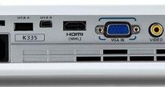 Acer K335 Beamer Rückseite