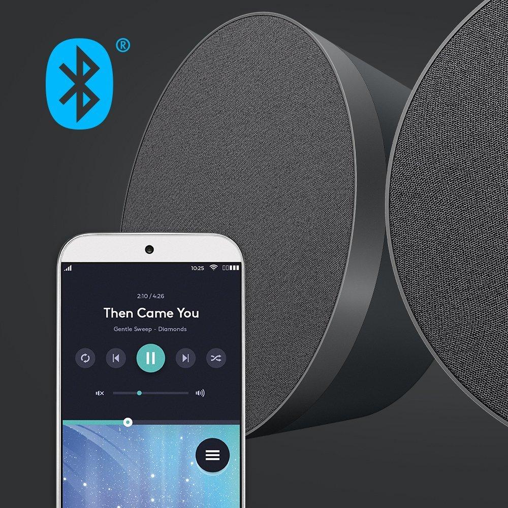 test logitech mx sound pc lautsprecher bluetooth hifi. Black Bedroom Furniture Sets. Home Design Ideas