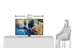 Samsung UE43MU6179 UHD Größe