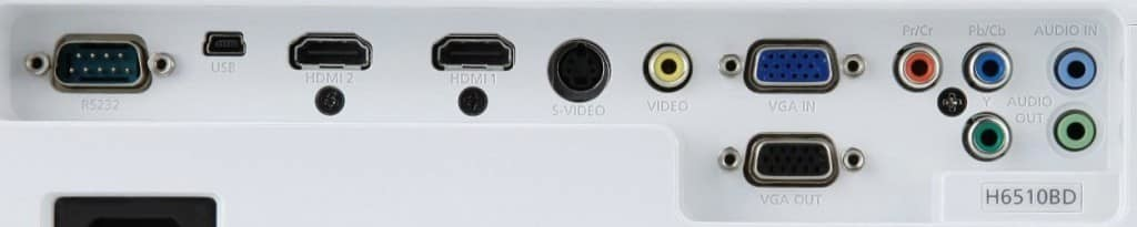 Anschlüsse Acer H6510BD