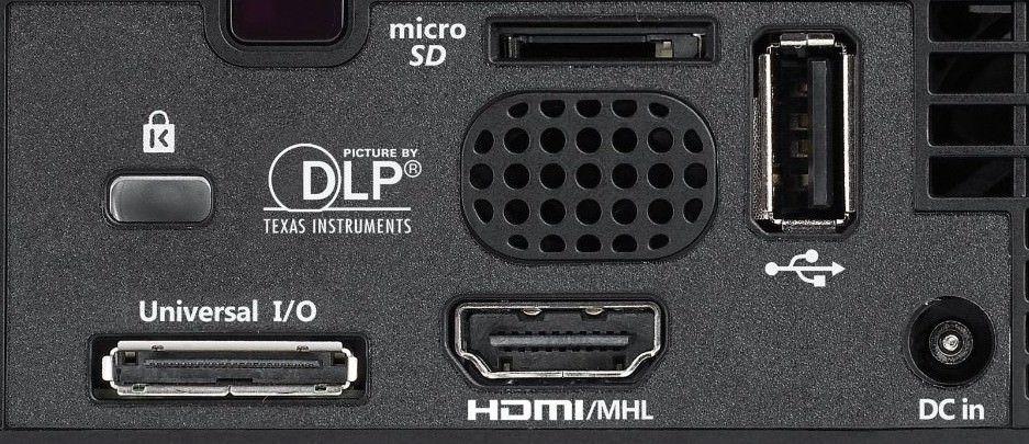 Optoma ML750e Mini Beamer Anschlüsse