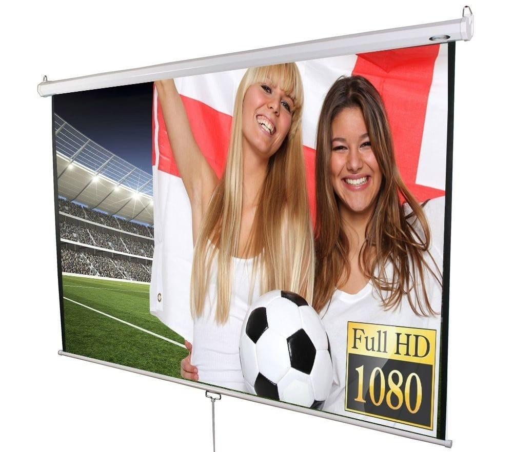 Die Jago Beamer Rolloleinwand gehört zu den Bestsellern und ist sogar HD-TV tauglich. Die Jago Leinwand können Sie bequembei Amazon bestellen.
