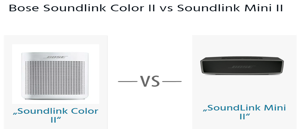 bose soundlink color ii vs soundlink mini ii hifi. Black Bedroom Furniture Sets. Home Design Ideas