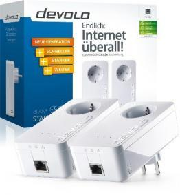 Devolo dLAN 650+ Starter Kit PowerLAN-Adapter, weiß