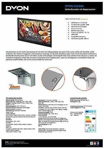 DYON Culina 61 cm (23,8 Zoll) Fernseher (Full-HD, Triple Tuner (DVB-C/-S2/-T2) für Wand- oder Schrankmontage - 3