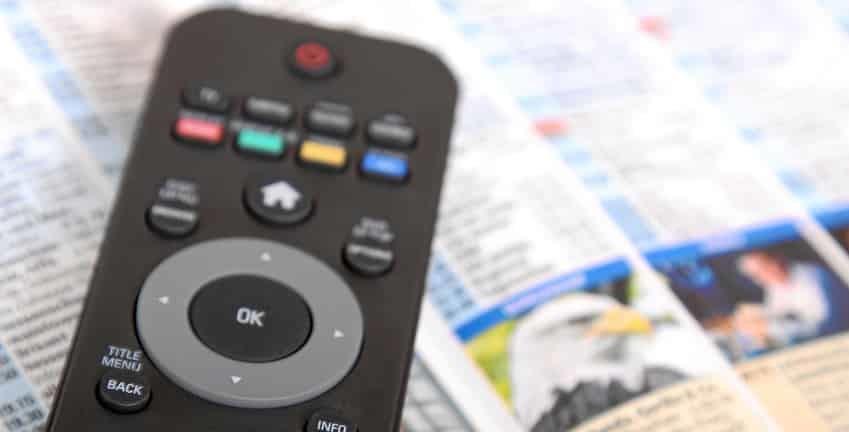 Elektronische Programmzeitschrift EPG - die Moderne digitale Fernsehzeitschrift