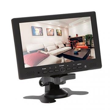 KKmoon 7 zoll Farbmonitor LED HD PC / AV HDMI Monitor VGA Eingang Empfänger mit Kopfhörerbuchse PAL / NTSC Video Displayer für Überwachung Auto Luftaufnahme - 2