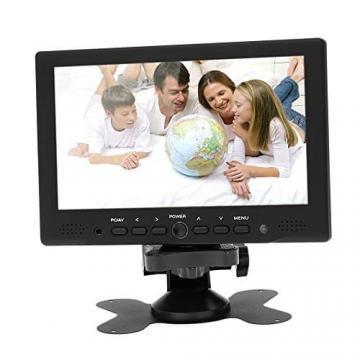 KKmoon 7 zoll Farbmonitor LED HD PC / AV HDMI Monitor VGA Eingang Empfänger mit Kopfhörerbuchse PAL / NTSC Video Displayer für Überwachung Auto Luftaufnahme - 3