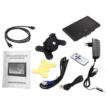 KKmoon 7 zoll Farbmonitor LED HD PC / AV HDMI Monitor VGA Eingang Empfänger mit Kopfhörerbuchse PAL / NTSC Video Displayer für Überwachung Auto Luftaufnahme - 6