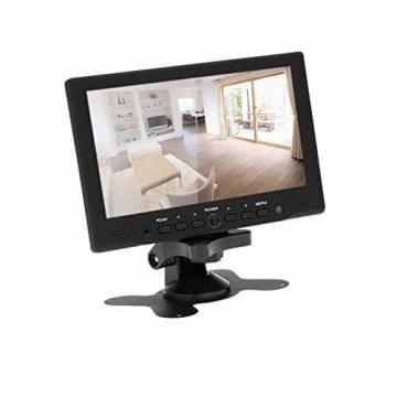 KKmoon 7 zoll Farbmonitor LED HD PC / AV HDMI Monitor VGA Eingang Empfänger mit Kopfhörerbuchse PAL / NTSC Video Displayer für Überwachung Auto Luftaufnahme - 7