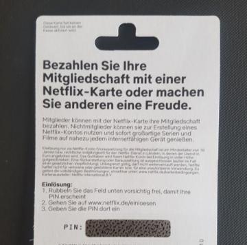 NETFLIX 15€ Euro Gutschein/Guthaben