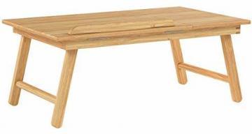 Relaxdays Laptoptisch aus Bambus HBT: 24 x 55 x 33 cm Beistelltisch mit praktischem Fach für Stifte oder Notizen verstellbarer Computertisch als Knietisch und Betttisch Notebooktisch aus Holz, natur - 6