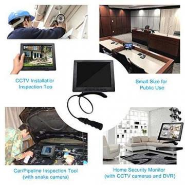 TOGUARD 8-Zoll 1024*768 TFT LCD Farb Monitor - Video Bildschirm mit BNC HDMI AV VGA Input - 3