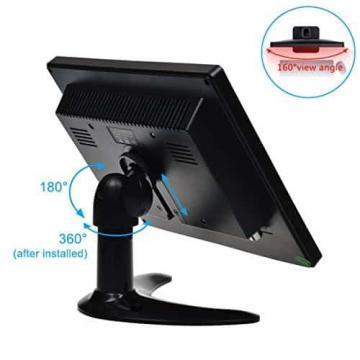 TOGUARD 8-Zoll 1024*768 TFT LCD Farb Monitor - Video Bildschirm mit BNC HDMI AV VGA Input - 5