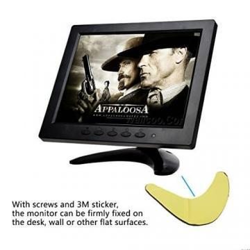 TOGUARD 8-Zoll 1024*768 TFT LCD Farb Monitor - Video Bildschirm mit BNC HDMI AV VGA Input - 6