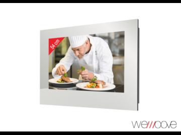 WEMOOVE WM-FMKTV220HEVC, Kücheneinbau-TV, Silber-Graphit